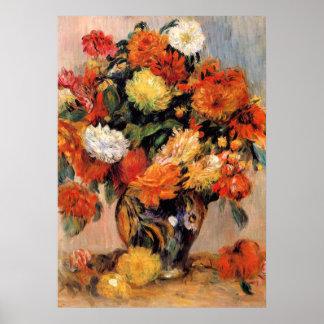 Renoir - Vase of Flowers, 1884 Poster