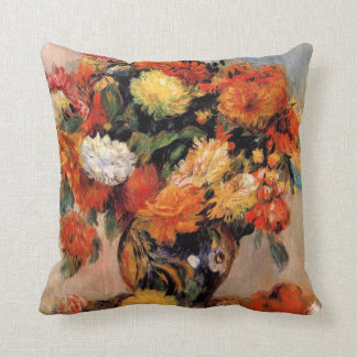 Renoir - Vase of Flowers, 1884 Throw Pillow