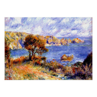 Renoir - View at Guernsey Poster