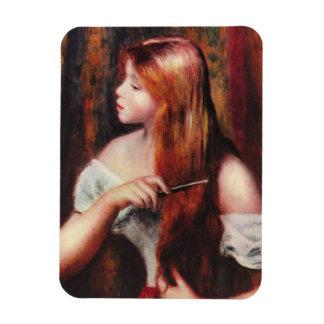 Renoir Young Girl Combing Her Hair Magnet