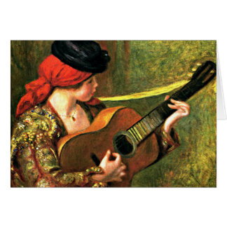 Renoir - Young Spanish Woman with a Guitar Card