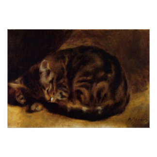 Renoir's A Sleeping Cat Poster