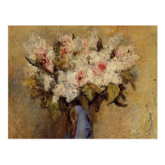 Renoir's A Vase of Lilacs and Roses Postcard