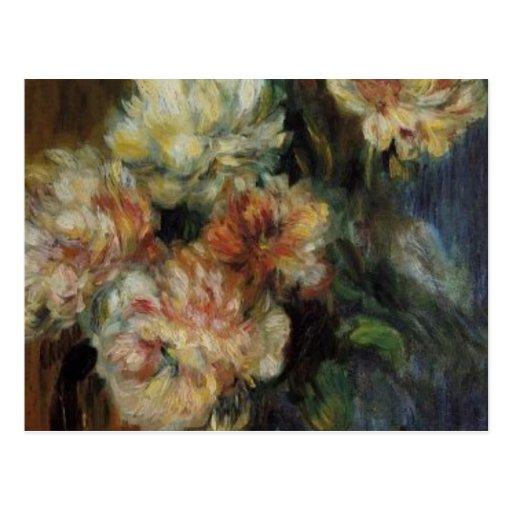 Renoir's A Vase of Peonies Post Cards
