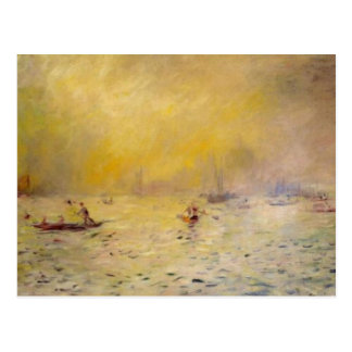 Renoir's A View of Venice Fog Postcard