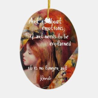 Renoir's art is full of emotions ceramic ornament