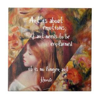 Renoir's art is full of emotions ceramic tile