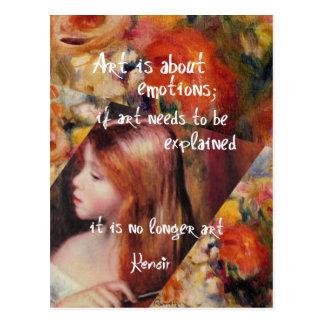 Renoir's art is full of emotions postcard