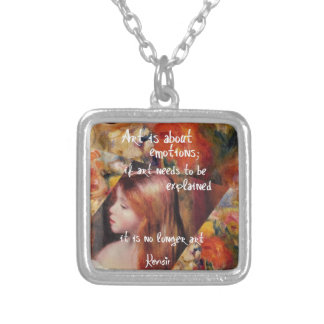 Renoir's art is full of emotions silver plated necklace