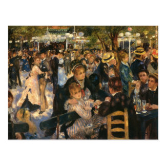 Renoir's Bal du   de la Galette (1876) Post Card