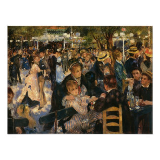 Renoir's Bal du   de la Galette (1876) Print