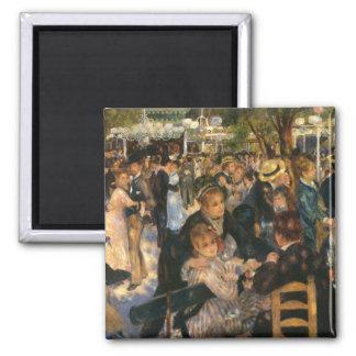 Renoir's Bal du   de la Galette (1876) Square Magnet