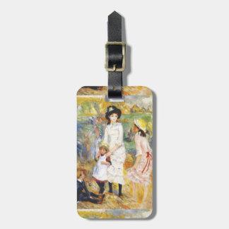 Renoir's Children on the Seashore Luggage Tag