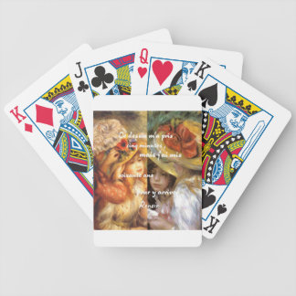 Renoir's paintings is plenty of love bicycle playing cards