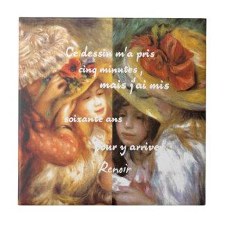 Renoir's paintings is plenty of love ceramic tile