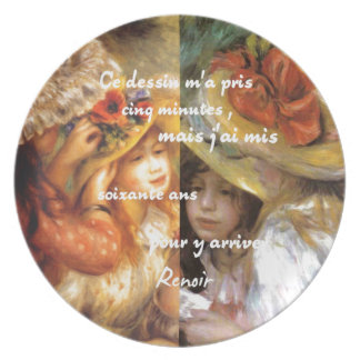 Renoir's paintings is plenty of love plate
