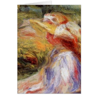 Renoir's Young Woman in a Straw Hat Card
