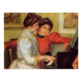 Renoir's Yvonne and Christine Lerolle at the Piano Postcard