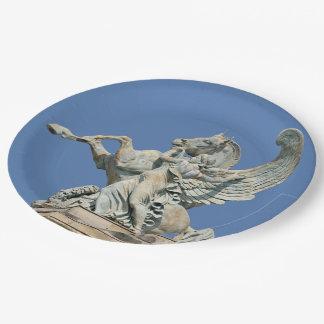 Renown Holding Back Pegasus Paper Plate