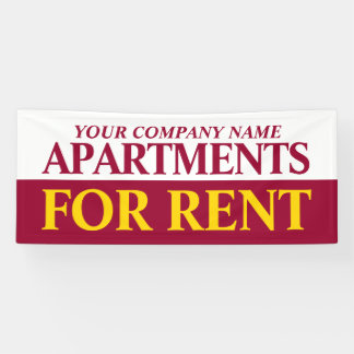 Rental business to rent signage banner
