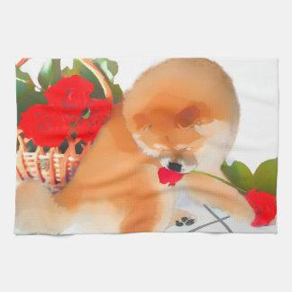 RENY heARTdog chow kitchen towel