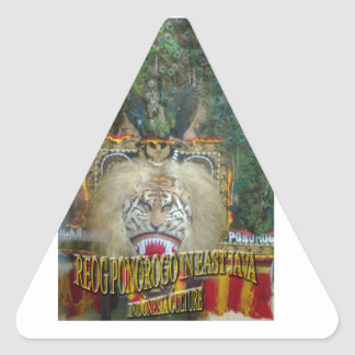 Reog Ponorogo In East Java Indonesian culture Triangle Stickers