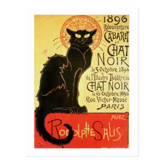 Reopening of the Chat Noir Cabaret, 1896 (colour l Postcard