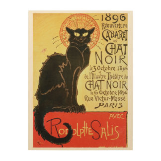 Reopening of the Chat Noir Cabaret, 1896 (colour l Wood Prints