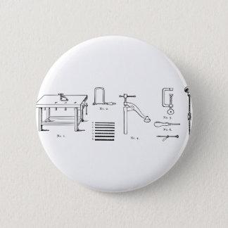 Repair Schematics Design 6 Cm Round Badge