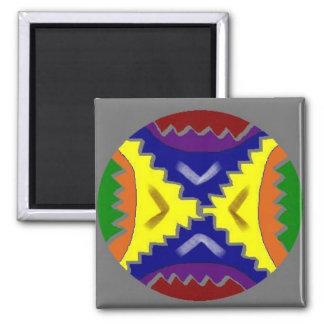 Repairing Mandala Square Magnet