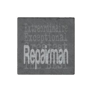 Repairman Extraordinaire Stone Magnet