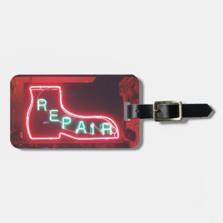 Repare Neon Sign NYC Bag Tag