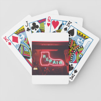 Repare Neon Sign NYC Bicycle Playing Cards