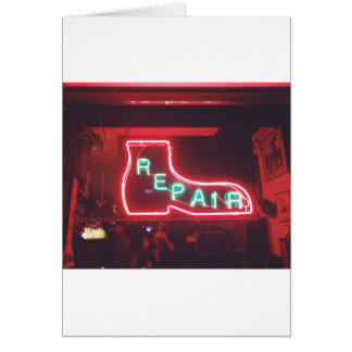 Repare Neon Sign NYC Card