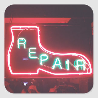 Repare Neon Sign NYC Square Sticker