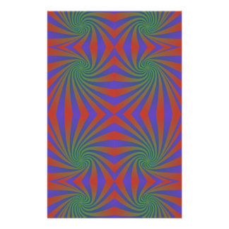 Repating spiral pattern personalized stationery
