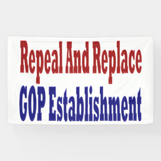Repeal And Replace GOP Establishment Banner