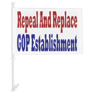 Repeal And Replace GOP Establishment Car Flags