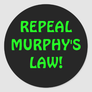 Repeal Murphy's Law Sticker
