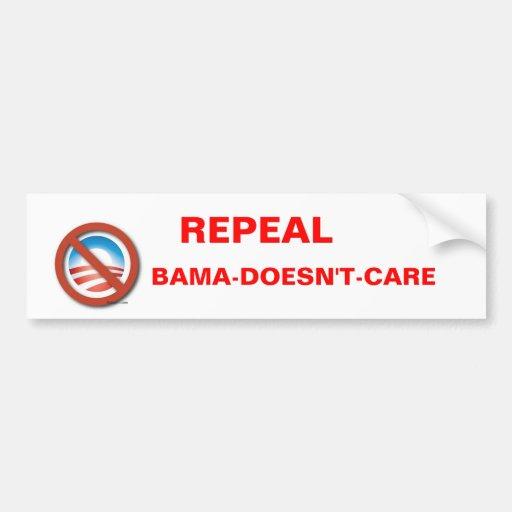 Repeal Obama-Doesn't-Care Bumper Sticker