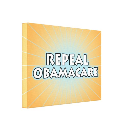 Repeal Obamacare Stretched Canvas Print