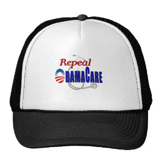 repeal obamacare light shirt trucker hats