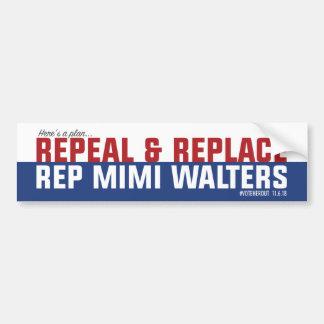 Repeal & Replace Mimi Bumper Sticker