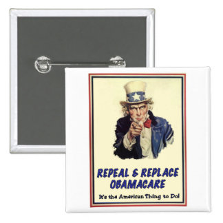 Repeal Replace Obamacare Pinback Buttons