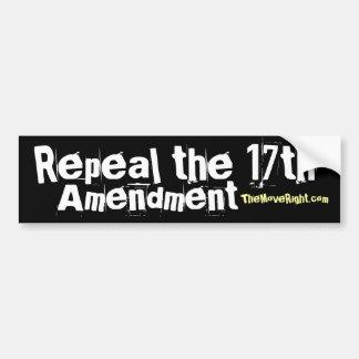 Repeal the 17th Bumper Sticker