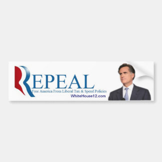Repeal:  The 2012 Republican Campaign Slogan Bumper Sticker