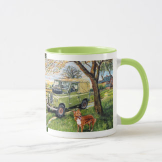 "Repeated image ""FARM"" design Ringer Mug"