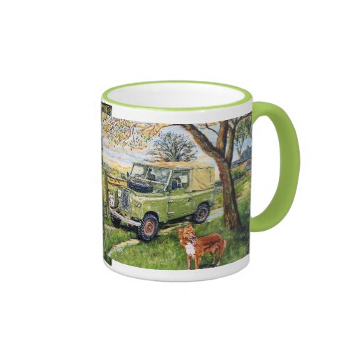 "Repeated image ""FARM"" design Ringer Mug Mug"
