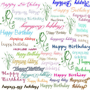Repeating Colorful Happy Birthday Wishes Postcard