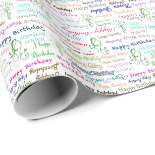 picture about Printable Birthday Wrapping Paper named Pleased Birthday Print Wrapping Paper .au